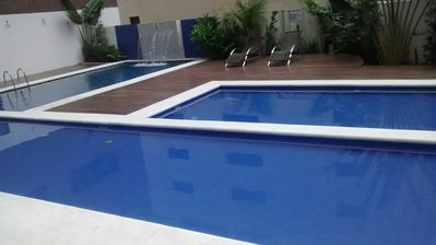 Photo for Two bedroom apartment with pool.