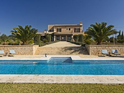 Photo for Modern finca with stunning views in Santanyi