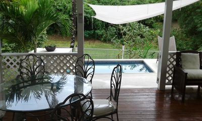 Photo for Cozy, pretty Beach Villa with 3 bedrooms, private pool and tropical garden