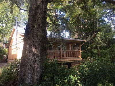 Photo for One of the highest rated cabins on the coast! Private/spacious located on Spring Cove! Sleeps 4