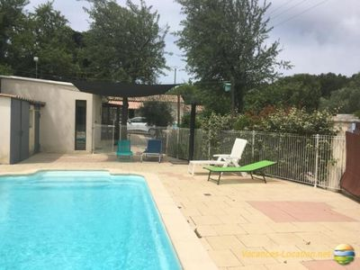 Photo for House with pool and outbuilding in the gard 25 minutes from the sea