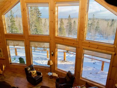 Photo for Stunning Log Cabin close to Lutsen Mountains, Skiing, Hiking, Golf and Winery
