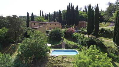 Photo for Country Villa with private pool set in the rolling green Tuscany hills