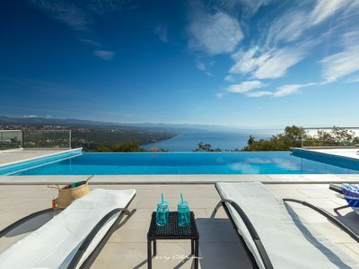 Photo for Modern spacious villa with spectacular sea view