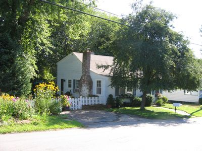 The Cottage and parking area