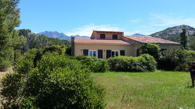 Photo for Large family house of 120m2, garden, sea view, near Calvi