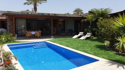 Photo for luxury villa with pool and garden, close to sea, beaches, harbor, golf