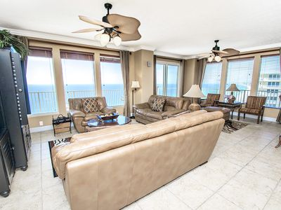 Photo for ☀Gulf FT 3BR @ Treasure Island 2212☀Oct 14 to 16 $778 Total! 180º Gulf Views!