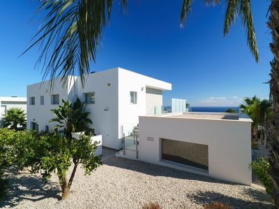 Photo for Stunning private villa for 4 guests with A/C, WIFI, private pool, TV and parking