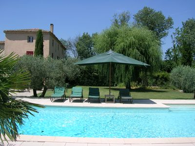 Photo for Very nice house in the countryside, 12 people, pool, and large garden.