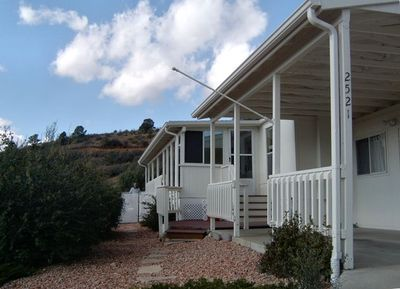 Home on the canyon ridge with breathtaking mountain views and sunsets from deck