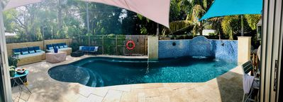 Photo for Newly renovated Exec 4/3- heated pool w/waterfall-2nd kitchen entertaining area