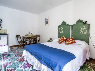 Photo for Vico De Amicis 30,1st floor studio, typical tuff house,50m from main square