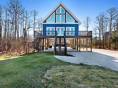 Photo for NEW LISTING! Dog-friendly, coastal home with water view and covered parking