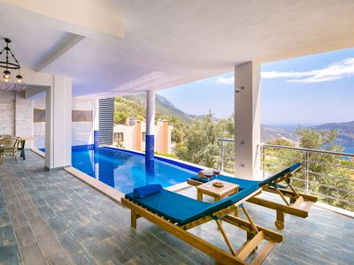 Photo for Luxurious Honeymoon Villa with Secluded Pool and Great Sea Views