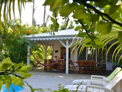 Photo for Villa Van Gogh with private pool 5 minutes from the beach in a tropical garden