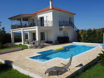 Photo for Luxurious villa with private swimming pool on the Greek Peloponnese peninsula.