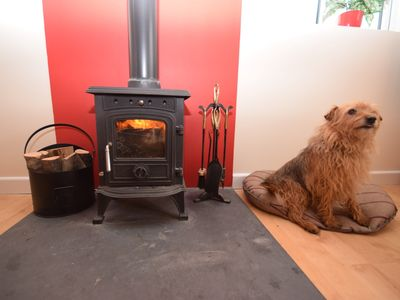 Cosy up by the woodburner with your four legged friends