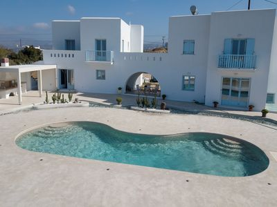Photo for SUPERB NEW VILLA WITH POOL, CLOSE TO THE BLUE FLAG BEACH IN AGIA ANNA  NAXOS