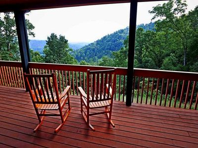 Photo for Sky Lodge with breathtaking views on 24 acres, near Asheville. Sleeps 20! Your stay supports a good cause!