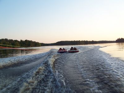 Great lake for tubing and skiing, plus its a class A Muskie Lake.