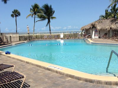 Photo for Snow Birds Retreat - directly on the beautiful white sand beach! GREAT POOL!