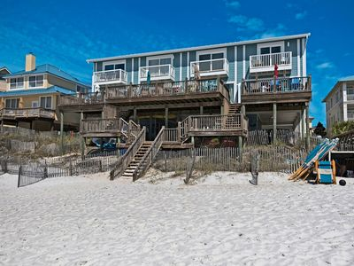Photo for Beach Front Townhome on the Gulf! Huge Deck, Heated Pool