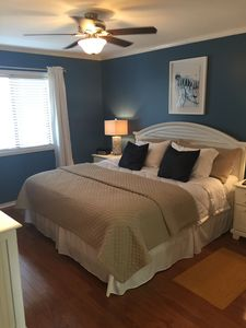 Large, comfortable master bedroom
