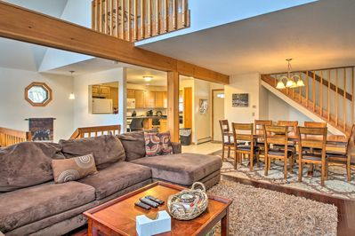 A great escape begins at this vacation rental cabin in Conway, New Hampshire!