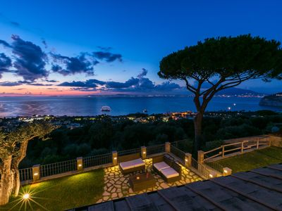Photo for Villa with breathtaking view with swimming pool, private parking, BBQ area and outdoor kitchen