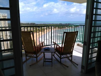 Photo for Incredible ocean views from beachfront corner unit condo
