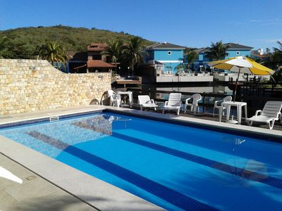 Photo for 3 bedroom triplex home in condominium with pool, sauna and barbecue