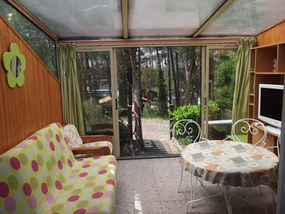 "Photo for Pleasant air-conditioned patio villa with garden in the heart of pines: ""Océane"""