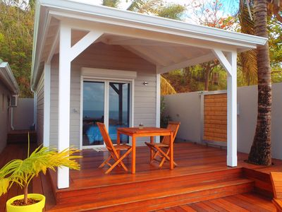 New Bungalow with private pool (rented without tenants in the house) with sea view
