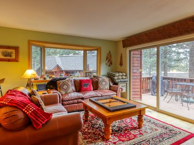 Photo for NEW LISTING! Cozy condo w/shared pool, balcony & fireplace -close to golf course
