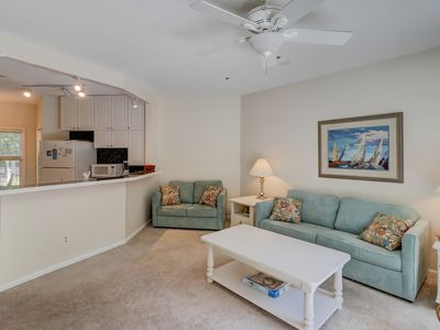 Photo for Dog-friendly condo w/ shared pool, tennis courts, & beach a short distance away!