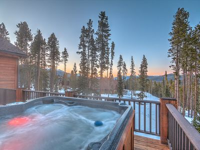 Photo for Gorgeous mountain home on Peak 10.  Mountain views from private hot tub!