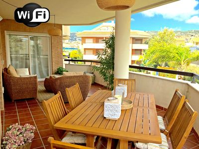 Photo for JAVEA - 3 Bedroom Brand New Apartment – Pool, WI-FI 20MB ADSL, gravel beach 400m