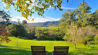Discover the joy of Kangaroo Valley in the back yard of Hampden House .