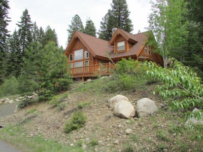 Photo for Dog-friendly, luxury cabin w/ shared pool & hot tub - year-round outdoor fun!
