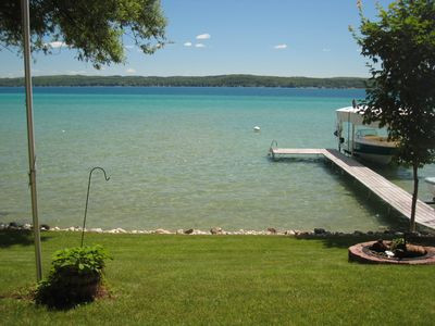 Photo for Torch Lake Lakefront Cottage with Large Boat Lift.