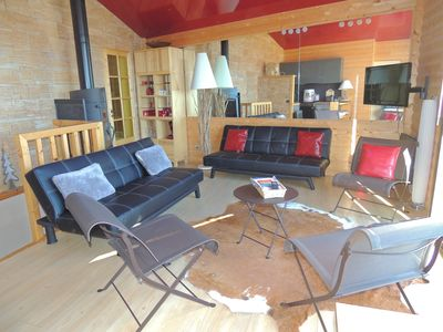 Photo for RENARD apartment in renovated chalet with view on Lake Matemale 11 pers