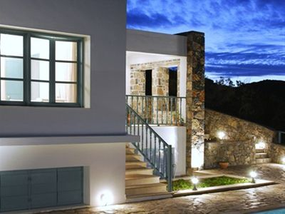 Photo for This 4-bedroom villa for up to 8 guests is located in Agios Nikolaos and has a private swimming pool