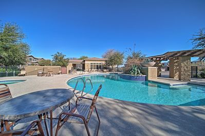 Book a tip to this 3-bedroom, 3-bathroom vacation rental townhome in Surprise.