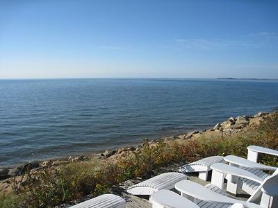 Photo for Beachfront on Cape Cod Bay in Eastham!