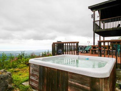 Photo for Spacious house w/mountain views, bunkhouse & hot tub—dogs welcome!
