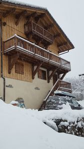 Photo for Grand Chalet in La Plagne: in an authentic village standing at the station