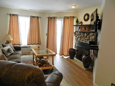 Family room with Recliner and 40' TV.