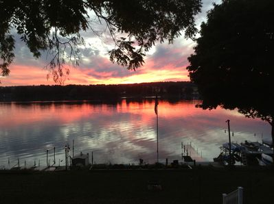 A Sunset View at our Lake House!
