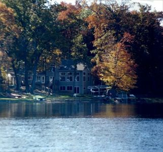 Lake House View in the Fall